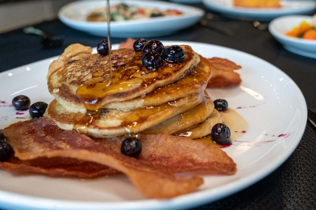 Blueberry Pancakes from Healthy James